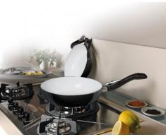 Bialetti, Padella wok con rivestimento in ceramica e manico pieghevole, Multicolore (Mehrfarbig), 24 cm