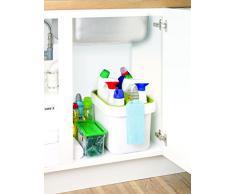 Joseph&Joseph Clean&Store Set Secchio Salvaspazio Per Detersivi E Stracci, Bianco