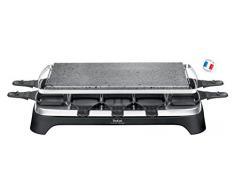 Tefal Steengrill 10 Inox&Design 10persona(e) 1350W Nero, Acciaio inossidabile griglia per raclette