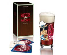 Ritzenhoff Bicchiere Birra con Sottobicchiere, 400 ml, Design Primavera 2014, 3090006