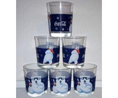 /Coca-Cola - Bicchieri da Collezione, Motivo: orsi polari, 6 x 0,2 Litri