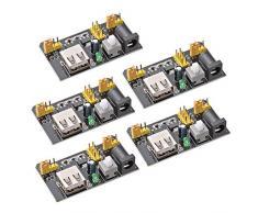 Modulo di alimentazione 5pcs MB102 tagliere di alimentazione 3.3V / 5V per Arduino Solderless TE 608
