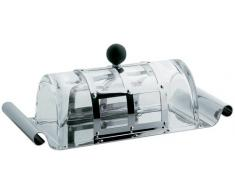 Alessi - MGBUT - Burriera in acciaio lucido con coperchio in cristallo e pomolo in PA, nero.