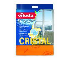 Vileda Microfibre Cristal Panno per Vetri e Cristalli, 100% Microfibra