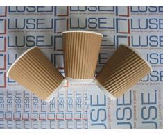 PZ 200 BICCHIERE IN CARTA ML 250 TERMICO PER CAPPUCCINO CIOCCOLATA CAFFE O BEVANDE CALDE IN CARTONE PAPER CUP COFFEE AND HOT DRINKS