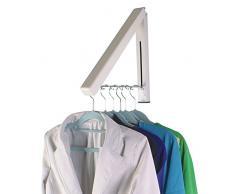 Confezione da 2 invisibile a scomparsa stendibiancheria a parete staffa per appendere i vestiti ombrello a parete W/free Clothesline Pole