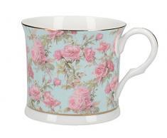 Creative Tops Tazza in porcellana fine, elegante, con bordo inferiore e motivo floreale Rose Queen