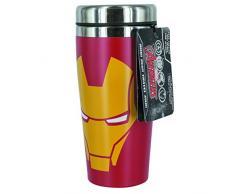 Lasgo Marvel Tazza da Viaggio Iron Man, Ceramica, Multicolore, 8.9x8.9x19.6 cm