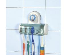 SODIAL(R) Porta spazzolino da denti forte a ventosa con cartoni creativi con 5 posti