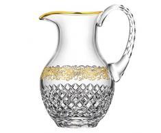 Arnstadt cristallo [direttamente V. produttore] brocca cristallo vetro arabesque (25 cm), con finitura in oro 21 carati