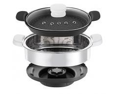 Moulinex XF384B Accessorio Vaporiera per Cuisine Companion, Contenitore Inox, Capacità 3,7 l