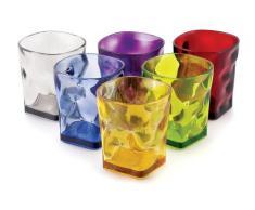Villa dEste, Set di 6 bicchieri colorati in policarbonato
