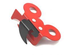 Fackelmann 00888 - Apriscatole professionale 2 in 1, colore: rosso