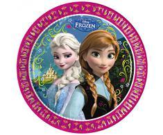 Disney 82499, Piatti Carta Disney Frozen, 23 cm, Multicolore, 8 Pezzi