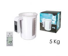 Bilancia elettronica digitale pesa liquidi e solidi da cucina brocca caraffa 5Kg