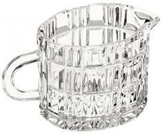 Crystaljulia 6594 – Bicchieri panna brocca, cristallo, 80 ml, 9 x 6 x 6,5 cm