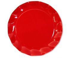 5 piatti maxi rossi da portata sottopiatti natalizi