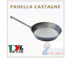 PADELLA CASTAGNE MANICO FERRO DIA 30 CM CUOCI CASTAGNA CALDARROSTE MADE IN ITALY