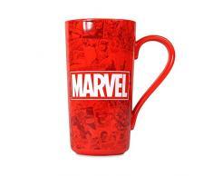 Marvel Logo Tazza di Latte, ceramic-500ml, Rosso, Ceramica, Multicolore, Unica