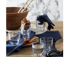 Duralex - Bicchieri impilabili temprati, confezione da 6 pezzi 16 cl trasparente