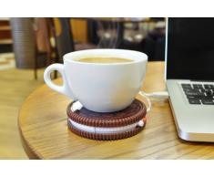 Mustard NG1702 Scaldatazza Sottobicchiere USB - Marrone Scuro Hot Cookie Biscotto