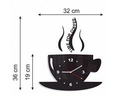 LVPY Orologio da Parete Moderno Silenzioso Stile con Posate da Cucina Decorazione a Muro per Casa Argento