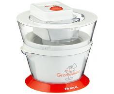Ariete 638 Gran Gelato - Gelatiera compatta per gelato artigianale, Completamente smontabile, Facile da pulire, Cestello 1L, Bianco/Arancio