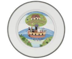Villeroy & Boch Design Naif Piatto da Colazione Arca di Noé, 21 cm, Porcellana Premium, Bianco/Multicolore