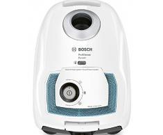 Bosch BGL4SIL69W Aspirapolvere a Carrello con Sacco ProSilence, 500 W, 4 Litri, 69 Decibel, Bianco