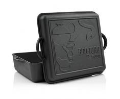 BBQ-Toro Dutch Oven Pan I pentola in ghisa pentola in ghisa I 10,8 litri ho precampionato - già bruciato in tostatrice con coperchio
