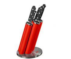 Wesco 322 691-02 - Blocco portacoltelli con set dii 5 coltelli, colore: Rosso