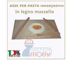 3legno Asse Da Pasta Legno Massello Tavolo Spianatoia Stendipasta 100X50X2 Made Italy