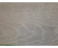 Pavimento pvc autoadesivo effetto legno rovere bianco sbiancato 2,08 mq plancia doga