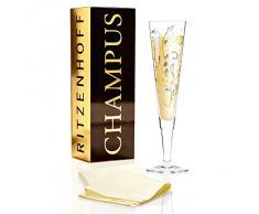 Ritzenhoff 1070226 Flute per champagne e Prosecco con tovagliolo in tessuto, Nuno laidero, autunno 2015