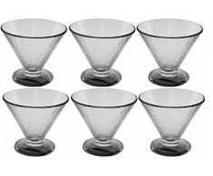 Set di 6 piatti vetro Coppa gelato ciotole vetro spekeled lavabile in lavastoviglie