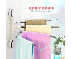 SSZYB 4 Leva in acciaio inossidabile più rack uso asciugamano da bagno asciugamano rack pieghevole rampa stendibiancheria multi-staffa per montaggio su palo 39*25*30cm