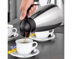 Esmeyer Thermoart - Caraffa Termica THERMOART, Contenuto: 1 litro, Acciaio Inox infrangibile, per Uso con Una Sola Mano, Altezza: 230 mm