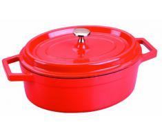 Lacor 25927- Casseruola ovale rossa alluminio pressofuso 26x20 cm