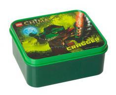 LEGO 40591719 - Set per la colazione con recipiente e borraccia, soggetto: Cragger, colore: Verde