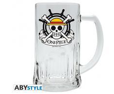 ABYstyle One Piece - Skull - Luffy Bicchiere da Birra, Multicolore