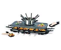TV Unser Original 05897 Gourmet maxx raclette e fonduta-Set, granit