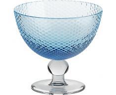 Coppe per gelato, coppe in vetro~BUBBLES~ Blu marino, 11 cm, Vetro trasparente(GELATO VERO powered by CRISTALICA)