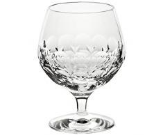 CRISTALICA Calice in Vetro Cognac Brandy Rhombus 300 ml Piombo Cristallo Chiaro Taglio