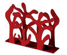 Alessi - ESI03 R - Mediterraneo portatovaglioli di carta in acciaio colorato con resina epossidica, rosso.