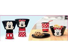 Minnie Disney - Set Colazione impilabile 3pz - Bicchiere, Ciotola e Piattino - Novità Prodotto Originale