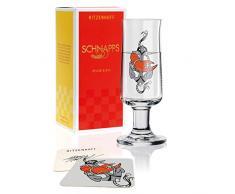 RITZENHOFF Snaps - Bicchiere da liquore in cristallo da 62 ml, con 5 coperchi
