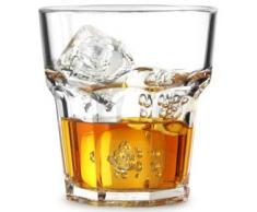 Set di 12 bicchieri multiuso, infrangibili, in policarbonato, 25,6 cl, colore: trasparente