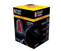 Russell Hobbs Colours Plus Compatto Bollitore, Base girevole con Avvolgicavo, Ebollizione in 55 sec., 2200 Watt, Capacità di 1L, Acciaio Inossidabile, Rosso