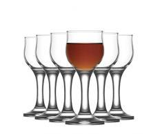 Lav Bicchiere da liquore Nevakar - in Vetro con Stelo - 55 ml - 12 Pezzi