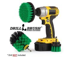 Drillbrush All Purpose Bagno Superfici doccia, vasca, e le mattonelle Power Kit Scrubber spazzola di pulizia medio-verde